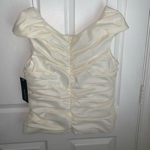 NWT Victor costa rusched blouse top